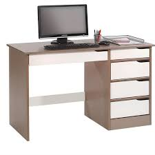bureau rangement bureau hugo avec rangement 5 tiroirs style scandinave en pin massif