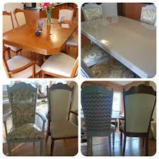 diy ugly dining table refinish and reupholster i refinished this