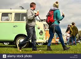 volkswagen 2017 campervan oswestry shropshire uk 16th april 2017 visitors to bustypes