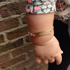 baby gold bracelet with name personalized baby bracelet gold gold or silver bar