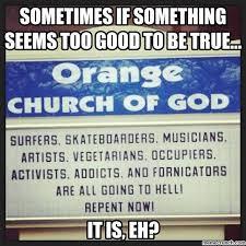 Church Sign Meme - church sign