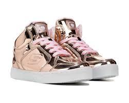 skechers energy lights high top sneaker pre grade school gold