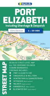 Port Elizabeth South Africa Map by Port Elizabeth Street Map Mapstudio