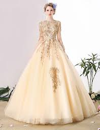 ball gown scoop neck cathedral train tulle wedding dress with