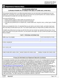 Power Of Attorney Form Va by Virginia Living Will And Medical Power Of Attorney Advance