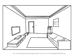 draw room learn how to draw one point perspective room one point perspective