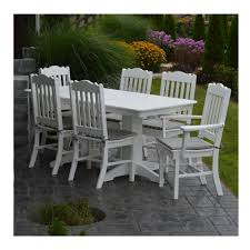 plastic rectangular outdoor table amish made 6 ft rectangular recycled plastic dining table set with