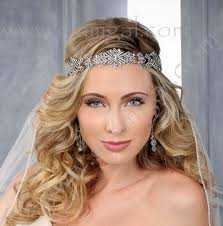 forehead bands bel aire bridal 6400 deco influenced pave rhinestone