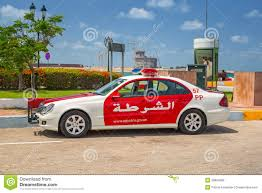 ad police police car on the street of abu dhabi editorial photography