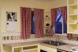 Kitchen Curtain Design Make It Daring With Red Kitchen Curtain