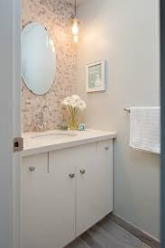 Traditional Bathroom Vanities by Tile Behind Vanity Powder Room Traditional With Mix And Match Door