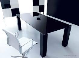 bureau noir verre plateau en verre pour bureau avec table de bureau en verre mobilier