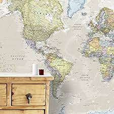 map mural map mural 232cm w x 158cm h amazon co