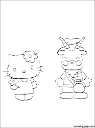 kid u0027s coloring kitty goat coloring pages