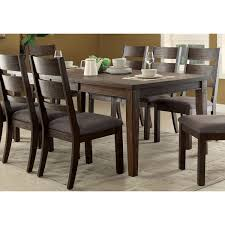 espresso dining table with leaf furniture of america rayshin rustic espresso expandable dining table