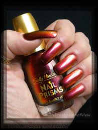 vibrant point of view sally hansen nail prisms 08 amber ruby