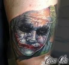 joker tattoo u2013 beautiful bloody scary face design tattooshunter com
