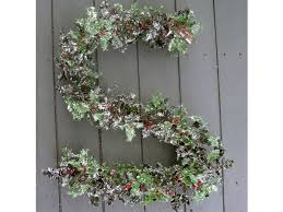 artificial 6ft frosted garland permabloom