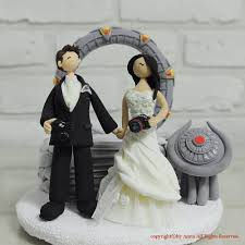 star gate custom wedding cake topper decoration keepsake