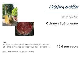 cours de cuisine à offrir cours de cuisine végétarienne à offir ou à s offrir l atelier d