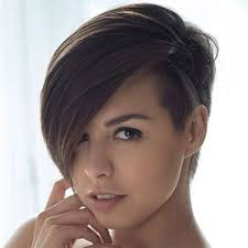 hair style for women with one side of head shaved pictures of short hairstyles with one side shaved hair style