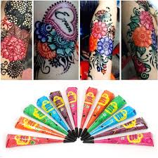 1pcs black white indian henna tattoo paste natural color mehndi