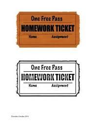 56 best homework passes images on pinterest classroom ideas