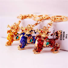 fashion key rings images Cute chinese dragon keychains creative opals kylin key chain jpg