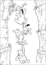 winnie pooh piglet rabbit eeyore coloring free