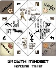 growth mindset game fortune teller activity for classroom lessons