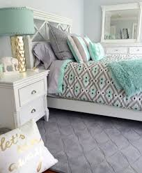 Green Bedroom Wall What Color Bedspread Who Doesnt Love Mint Green And Gray Together Create A Bright And