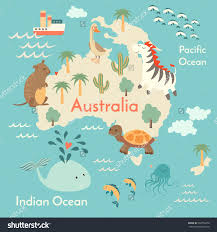 Kids World Map Animals World Map Australia Australia Map For Children Kids