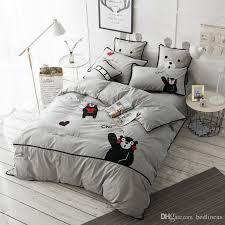 comfortable bedding soft comfortable grey black animal bear bedding for teen boy bed