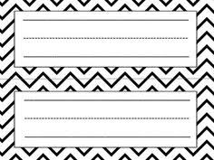 Desk Name Tags by Free Black And White Name Tags For Desk Classroom Management