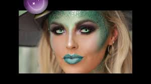glitter witch halloween make up tutorial youtube