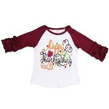thanksgiving tshirt happy thanksgiving shirt leaf burgandy ruffle raglan upon a bowtique