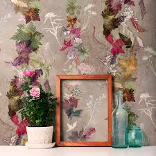 dance green u0026 pink designer wallpaper country style
