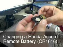 honda accord fob battery changing the remote key battery for a honda accord maybe civic