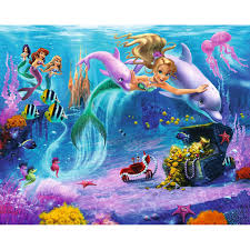 kids decor next day delivery kids decor from worldstores walltastic mermaids wall mural 8ft x 10ft sticker