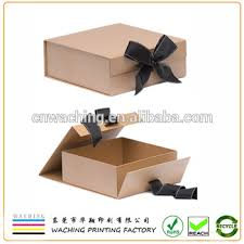 gift box with ribbon brown craft paper cardboard gift box with ribbon closure buy