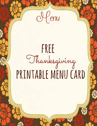 free thanksgiving menu templates happy thanksgiving