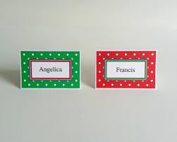 christmas name place card home