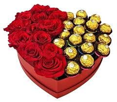 roses in a box 12 roses 12 ferrero heart box flower delivery philippines