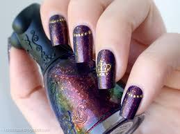 nfu oh 51 u0026 golden crown nail art nailz craze