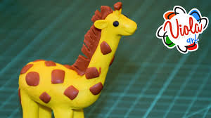play doh how to make giraffe by modeling clay tutorial for kids