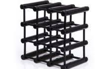 modern peach polished iron modular wine racks with circles rails