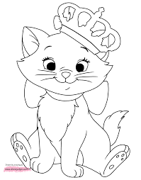 disney aristocats marie coloring pages animals pinterest