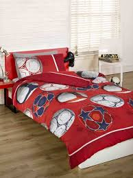 Childrens Duvet Cover Sets Uk Childrens Boys Red Football Soccer Double Duvet Quilt Cover