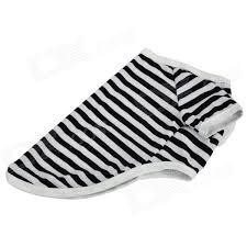 shirt pattern for dog cute stripe pattern cotton t shirt for pet dog white black size m