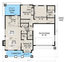 one story bungalow house plans plan 18267be simply simple one story bungalow master closet mud